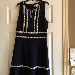 Beautiful navy blue and white  summer dress